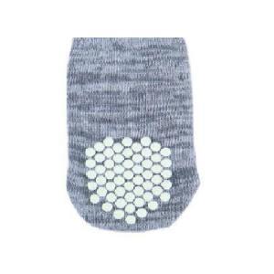 Носок серый с противо-скользящими подушечками