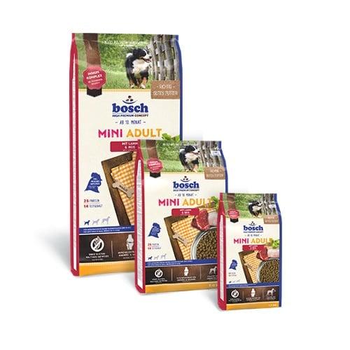 Сухой корм Бош Мини Эдалт Лэмб Энд Райс (Bosch Mini Adult Lamb & Rice) для собак, ягненок и рис