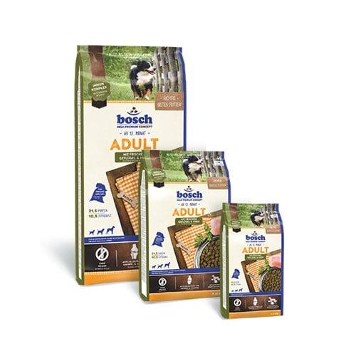 Сухой корм Бош Эдалт Поултри Энд Миллет (Bosch Adult Poultry & Millet) для собак, птица и просо