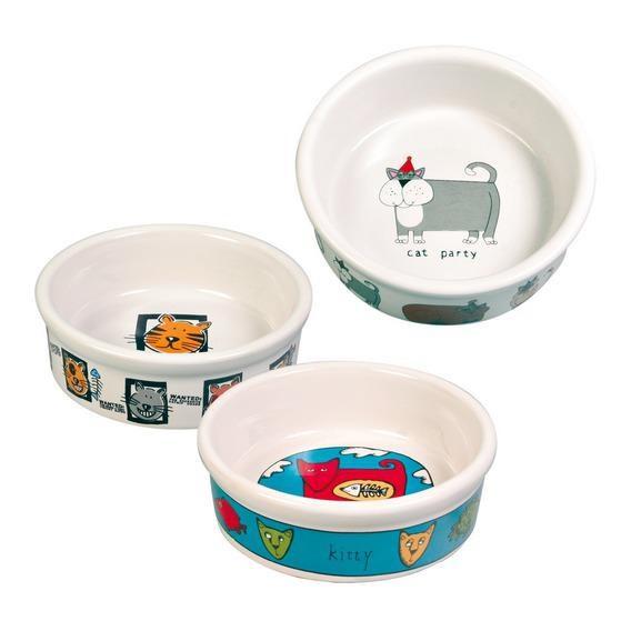 Забавная керамическая миска для кошек с рисунком 4008 TRIXIE