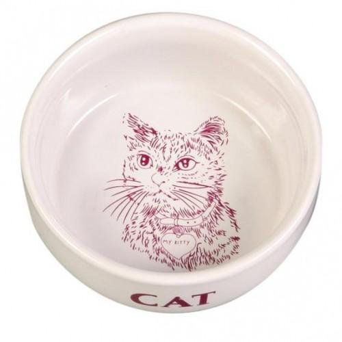 Керамическая миска для котов с рисунком 4010 TRIXIE