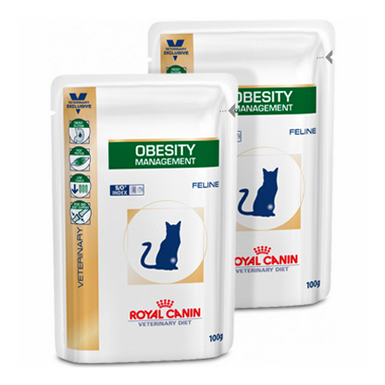 Влажный корм Royal Canin Obesity Feline Pouches