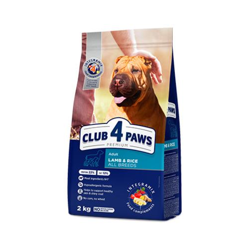 Сухой корм гипоаллергенный для взрослых собак всех пород Клуб 4 четыре лапы (CLUB 4 PAWS PREMIUM), ягненок и рис