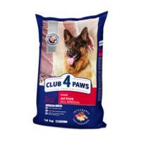 Сухой корм для взрослых собак всех пород Клуб 4 четыре лапы Актив (CLUB 4 PAWS PREMIUM)
