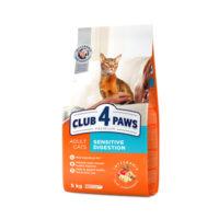 Сухой корм для взрослых котов с чувствительным пищеварением Клуб 4 четыре лапы (CLUB 4 PAWS PREMIUM)
