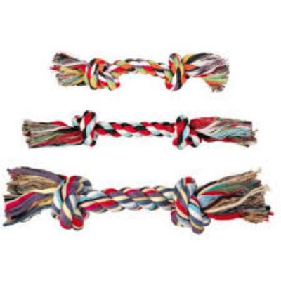 Trixie 3270 Игрушка Канат двойной с узлами, 15 см