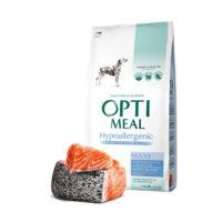 Сухой корм Оптимил (Optimeal) для собак больших пород, гипоаллергенный с лососем 12кг