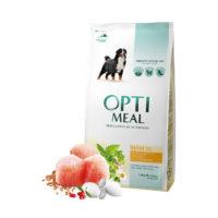 Сухой корм Оптимил (Optimeal) для собак больших пород, с курицей