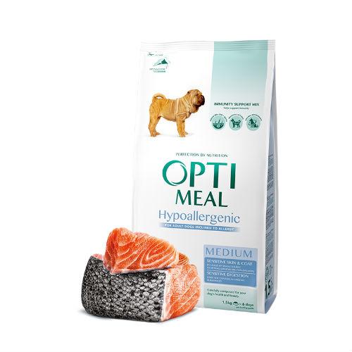 Optimeal сухой корм для собак MEDIUM гипоаллергенный с лососем