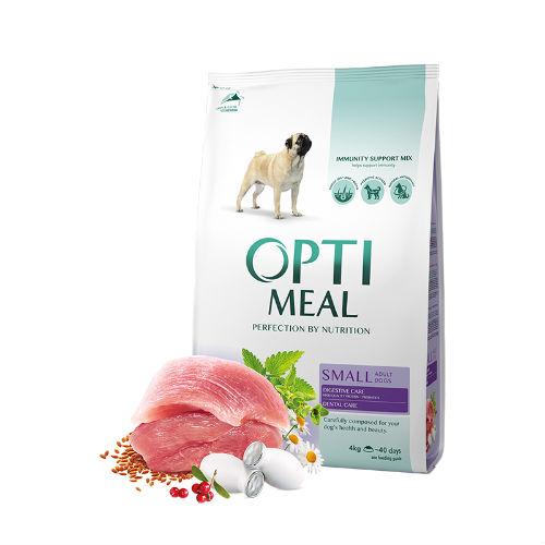 Optimeal сухой корм для взрослых собак MINI гипоаллергенный утка с рисом