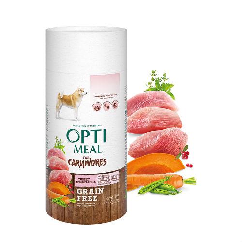 Optimeal для собак беззерновой с индейкой и овощами