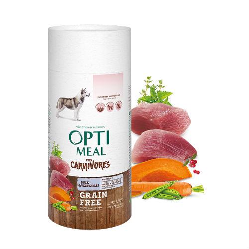 Optimeal для собак беззерновой с уткой и овощами