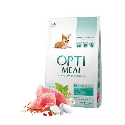 Сухой корм Оптимил (Optimeal) для щенков всех пород, с индейкой