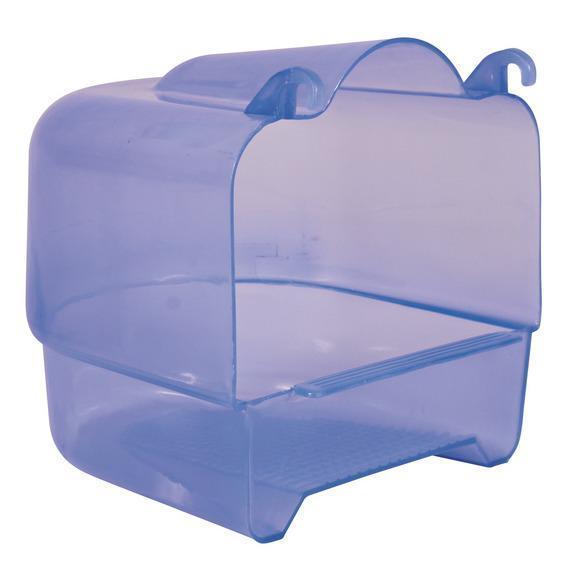 Домик-купалка для птиц (пластик) 15х16х17см, голуб. Trixie 54032