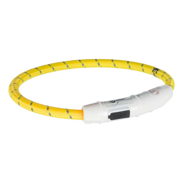 Ошейник светящийся USB желтый TRIXIE 12690