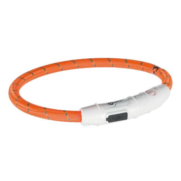 Светодиодное кольцо USB ошейник оранжевый