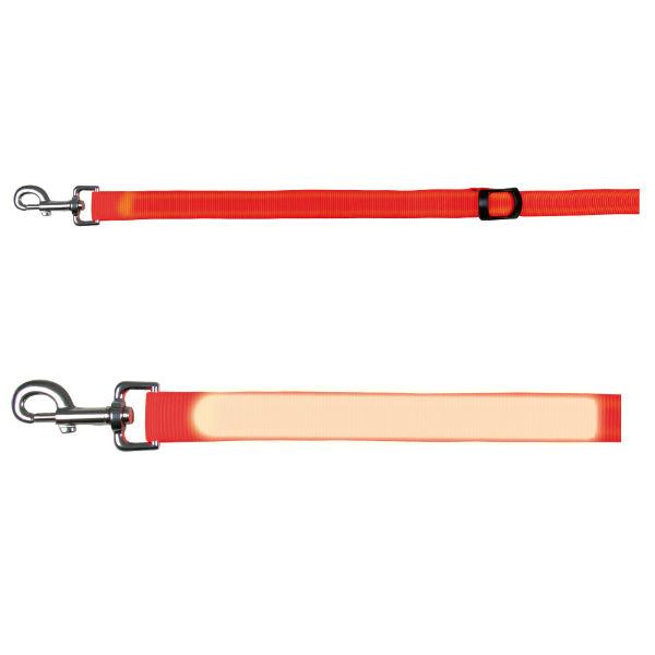 Светящийся поводок для собак оранжевый TRIXIE TX-13061