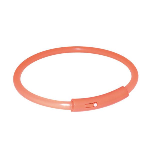 Пластиковый светящийся ошейник оранжевый