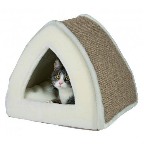 """Купить лежак-пещера """"Jessa"""" для кошек имеет размеры 40х38х40см, кремовый недорого. Заказать лежак-пещера """"Jessa"""" TRIXIE TX 36845 для собак и кошек лежак кремовый по низкой цене с доставкой Днепр и Украина"""