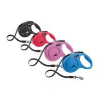 Поводок-рулетка Флекси Нью Классик (Flexi New Classic Tape Leash) для собак TX-1171, 5 м/25 кг