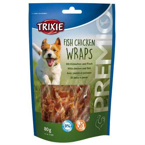 Лакомство для собак TRIXIE TX-31590 PREMIO Fish Chicken Wraps с курицей и рыбой
