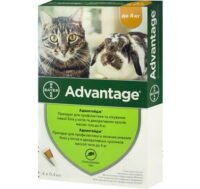 Адвантейдж 40 (Bayer Advantage 40) капли для кошек и кроликов от блох, до 4 кг