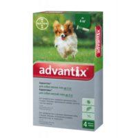 Капли на холку для собак от блох и клещей Адвантикс Байер (Bayer Advantix), до 4 кг