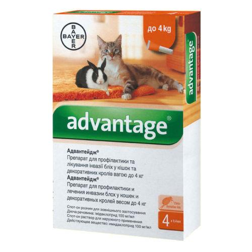 Средство от блох Bayer ADVANTAGE 40 для всех животных до 4кг