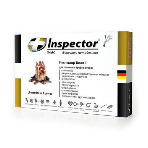 Inspector капли для собак до 4 кг, 1 пипетка от наружных и внутренних паразитов 0,4 мл