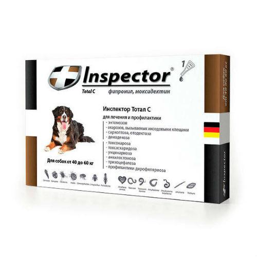 Inspector капли для собак весом 40-60 кг, 1 пипетка средство от наружных и внутренних паразитов 6 мл