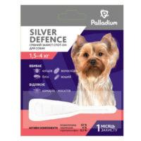 Капли для собак на холку от паразитов Палладиум (Palladium Silver Defence), вес от 1,5 до 4 кг