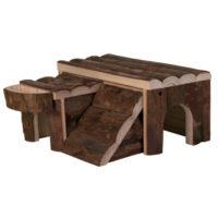 Деревянный домик для грызунов TX-6173