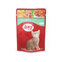 Мяу консерва пауч Ням-Ням для котят 85гр