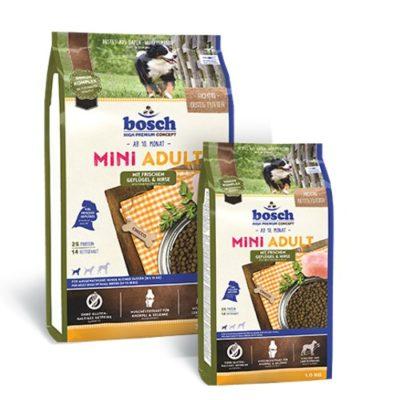 Сухой корм Бош Мини Эдалт Поултри Энд Миллет (Bosch Mini Adult Poultry & Millet) для собак, птица и просо