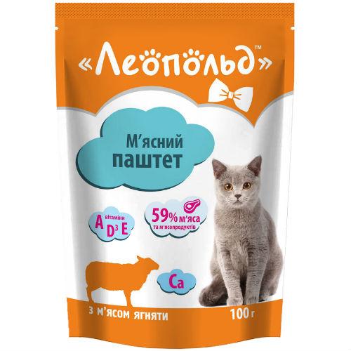 Консерва, пауч Леопольд паштет телятина для котов 100гр