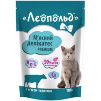 Консерва, пауч Леопольд телятина для котов 100гр