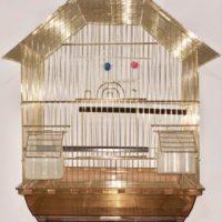 Золотая клетка для птиц Китайский домик 37*28*47см
