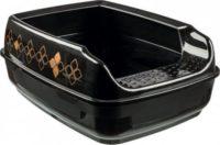 Туалет TRIXIE 40392  Delio для котов черный/бронзовый 35*20*48см