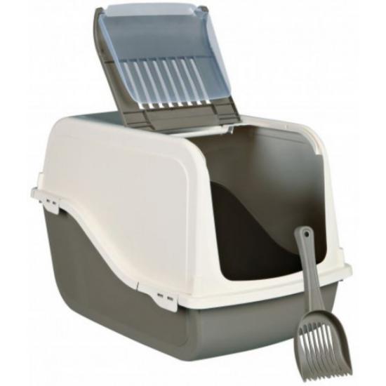Туалет-домик Trixie Dano 40287 для кошек кремовый/серый 39*38*57см
