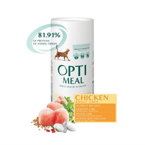 Optimeal Оптимель корм для котов повседневный с курицей