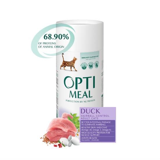 Optimeal Оптимель корм для котов с эффектом выведения шерсти