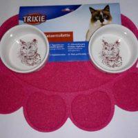 Коврик для кошачьего туалета, мисок лапка розовый Tx-40387 78070