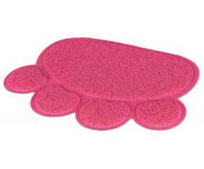 Коврик для кошачьего туалета, мисок лапка розовый Tx-40387