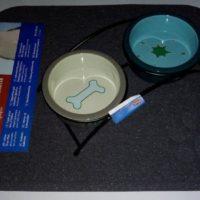 Коврик под миски, кошачьи туалеты прямоугольный серый 37х45см Trixie-40381 78079