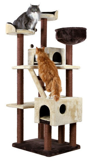 Домик, место когтеточка для кошек Trixie-47001 Felicitas 190см коричневый/бежевый
