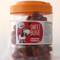 Sweet Bone (Свит Бон) лакомства для собак, мясо курицы на сыромятой коже 500г (34-38шт)