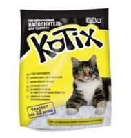 Kotix (Котикс) силикагелевый наполнитель для кошачьего туалета, 3,8 л