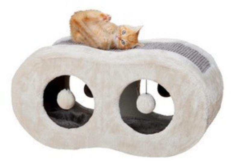 Когтеточка-домик «Liana » TX-43570 д/котов 56х28х25см серая