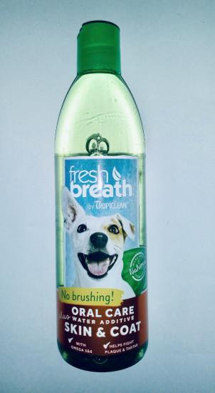 TropiClean Тропиклин oral care добавка в воду для кожи и шерсти собак и кошек 473мл