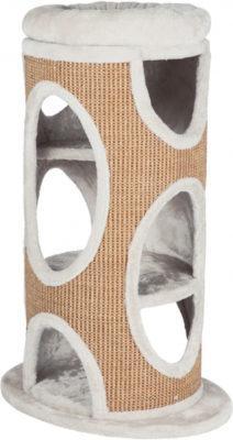 Когтеточка-домик-башня д/котов TX-44705 «Osana» 86см серый/коричневый